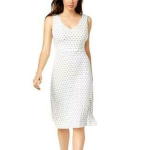 Vince Camuto ivory Crisscross back A-Line Dress